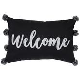 Welcome Pom Pom Pillow