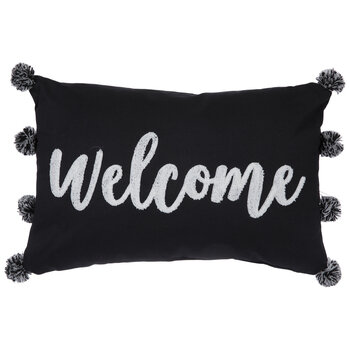 Welcome Pom Pom Pillow
