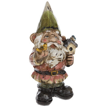 Green Hat Gnome With Birdhouse