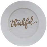 Thankful Wood Plate Charger