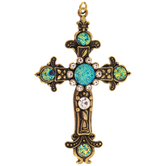 Druzy Cross Pendant