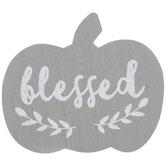 Blessed Pumpkin Wood Decor