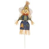 Beige Hat Scarecrow Pick