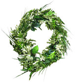 Green & White Berries & Leaves Wreath