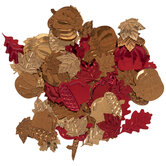 Metallic Leaves, Pumpkins & Acorns Confetti