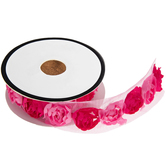 Pink Two-Tone Rose Trim - 3/4""