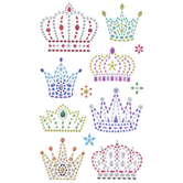 Crown Rhinestone Stickers