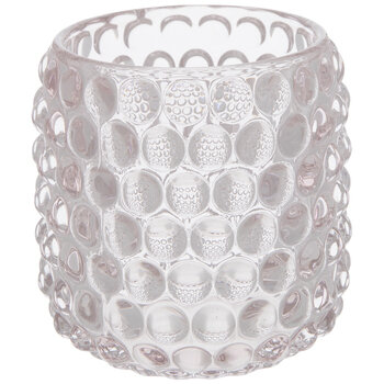 Bubbled Glass Candle Holder