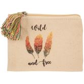Wild & Free Canvas Coin Purse With Tassel