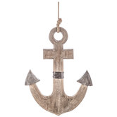Distressed Anchor Wood Wall Decor