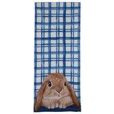 Blue Plaid Bunny Kitchen Towel