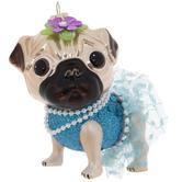 Pug Wearing Tutu Ornament