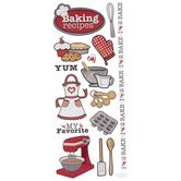 Baking Glitter Stickers