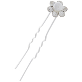 Glass Pearl & Rhinestones Hair Pins