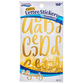 Gold Calligraphy Letter & Number Stickers
