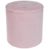Pink Round Ottoman