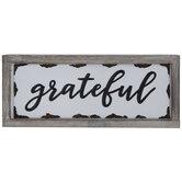 Grateful Wood Wall Decor