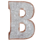 Galvanized Metal Letter Wall Decor - B