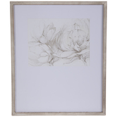 Black & Cream Floral Framed Wall Decor