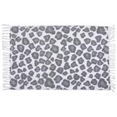 White & Gray Leopard Print Rug