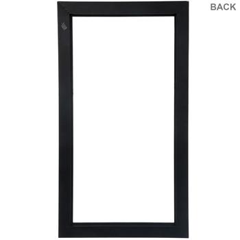 "Matte Black Wood Open Frame - 12"" x 24"""