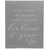 Kindness & Grace Wood Decor
