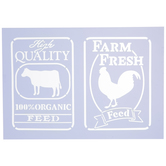 Rooster & Cow Feed Stencil