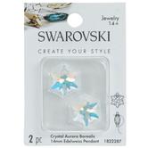 Swarovski Crystal AB Edelweiss Pendants