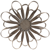 Brown Flower Wood Wall Decor
