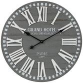 Grand Hotel Wood Wall Clock