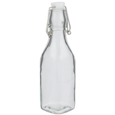 Square Glass Bottle - 8 Ounce