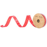 """Dots & Striped Wired Edge Ribbon - 5/8"""""""