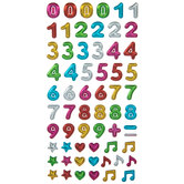 Numbers & Symbols Puffy Stickers