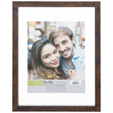 """Brown Float Wood Wall Frame - 8"""" x 10"""""""