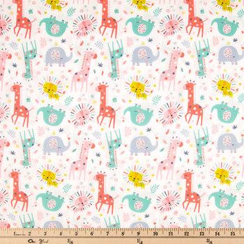 Happy Jungle Cotton Calico Fabric