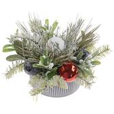 Pine & Ornaments Arrangement