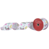 Pastel Churches Wired Edge Ribbon - 2 1/2""
