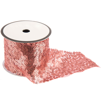 Rose Gold Sequin Trim - 2""