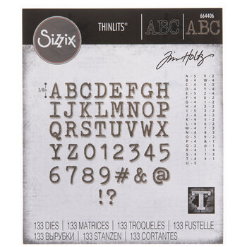 Sizzix Thinlits Alphanumeric Tiny Type Upper Dies