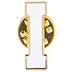 White Letter Metal Pin - I