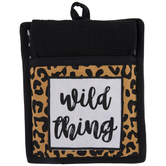 Wild Thing Leopard Print Oven Mitt & Kitchen Towel