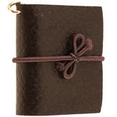 Dark Brown Leather Journal Charm