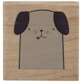 Dog Face Rubber Stamp