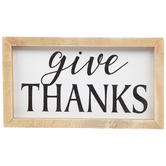 Give Thanks Wood Decor