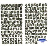 Camo Franklin Gothic Alphabet Stickers