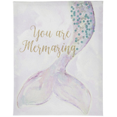 You Are Mermazing Canvas Wall Decor