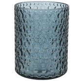 Blue Bubbled Glass Vase