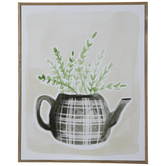 Plant In A Teapot Wood Wall Decor