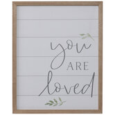 You Are Loved Plank Wood Wall Decor