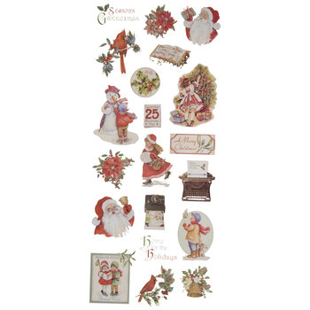 Vintage Christmas Icons Stickers